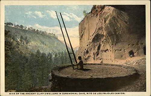 Amazon.com: Kiva of the ancient cliff dwellers in Ceremonial Cave Taos, New Mexico Original Vintage Postcard: Entertainment Collectibles