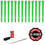 Karma Neion II Grip - Green - 13 pc Grip Kit (with Tape, Solvent, Vise Clamp)
