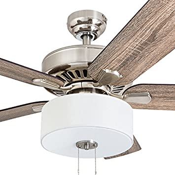 Prominence Home 50661-01 Canyon Lakes Farmhouse Ceiling Fan, 52 , Barnwood Tumbleweed, Brushed Nickel