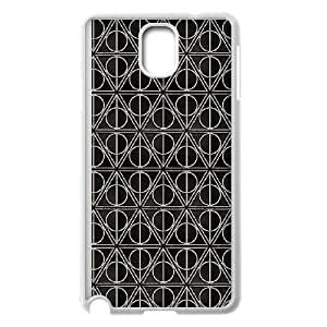 Samsung Galaxy Note 3 Cell Phone Case White Deathly Hallows I2O3CT