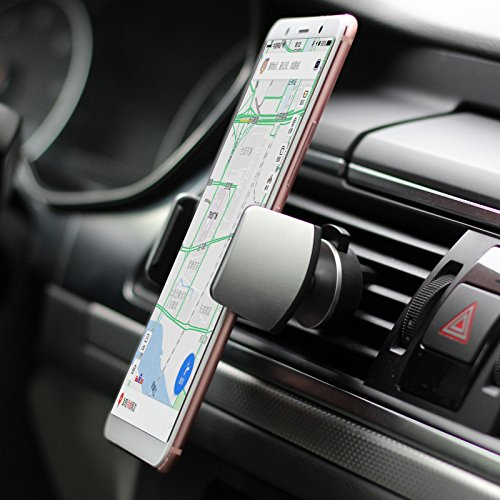 LG and More WAOOSHOP 4351560541 S6 Edge Samsung Galaxy S5 Car Phone Holder,BRIGHT STONE Universal 360/° Adjustable Car Air Vent Phone Mount Fit for All 3.5-6.0inch Phone for iPhone X,8,7,6 S6