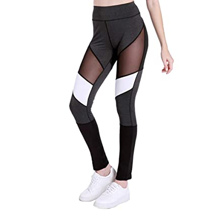 Ruikey Pantalones De Yoga De Estiramiento De Cintura Alta ...