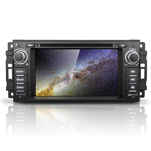 "Android 7 Car Stereo CD DVD Player - Corehan in Dash Car Radio Multimedia Player Navigation System with 6.2"" LCD Bluetooth WiFi GPS for Jeep Wrangler Dodge Chrysler"