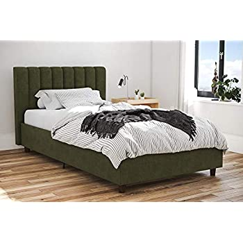 Amazon Com Novogratz Brittany Upholstered Platform Bed
