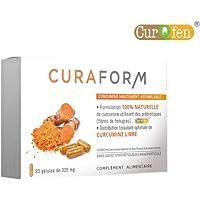 Curcuma breveté Curqfen® sans additif | Assimilation de la Curcumine supérieure à la pipérine | Résultats prouvés par études cliniques | 60 gélules…