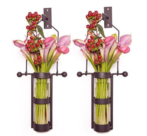 Amazon Danya B Wall Mount Hanging Glass Cylinder Vase Set With