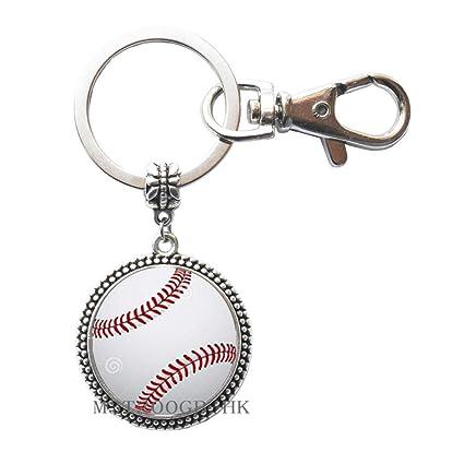 Llavero de béisbol, llavero de béisbol, joyería deportiva de ...
