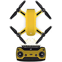 SopiGuard Matte Gold Metallic Fiber Precision Edge-to-Edge Coverage Vinyl Sticker Skin Controller 3 x Battery Wraps for DJI Spark