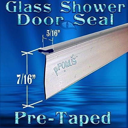 Ds9397 98 Long Tall Pre Taped T Shape Seal Frameless Glass Shower