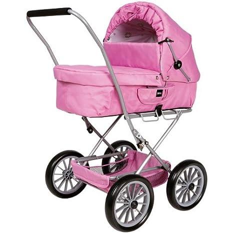 Amazon.es: Brio 24890108 - Cochecito de bebé de juguete, color rosa: Juguetes y juegos