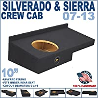 07-13 Chevy Silverado GMC Sierra Crew Cab Black 10 Dual Sealed Sub Box Subwoofer Enclosure