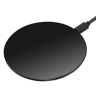 Wireless Charger Qi Carga para iPhone X/8/8 Plus, Cargador de inducción