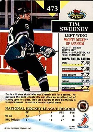1993-94 Stadium Club Members Only Parallel #473 Tim Sweeney