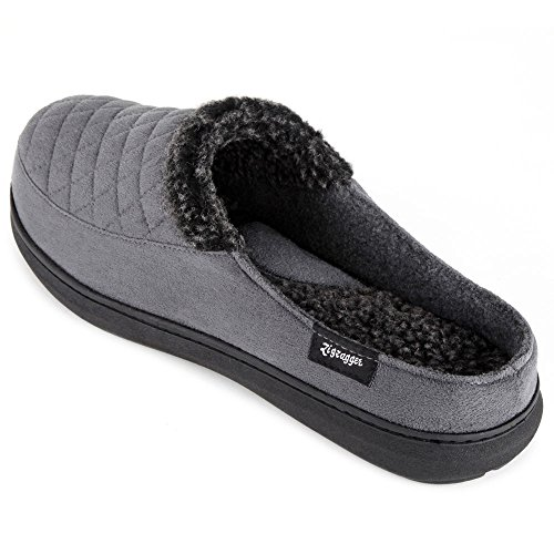 Zigzagger Men's Suede Fabric Memory Foam Slippers Slip On Clog House Shoes Indoor/Outdoor by Zigzagger (Image #3)