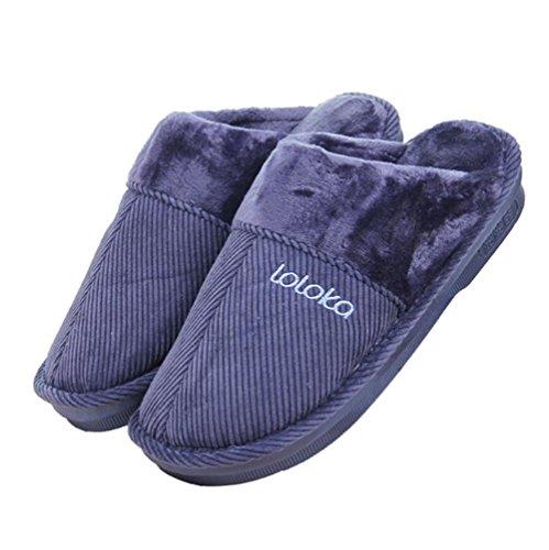 W Hommes Peluche Chausson Intérieur 43 En Chaud Hiver Automne Doublure Chaussures Mules Xy Faux amp; Fourrure Extérieur Antiglisse xwpU6Rq