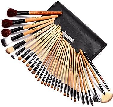 31Tlg Juego de pinceles Brocha Maquillaje Set Cabello Real de marca fraeulein38 con estuche para dama: Amazon.es: Belleza