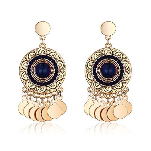 Women's Bead Earrings Bohemians Sunflower Dangle Dangling Earrings for Women Girl ()