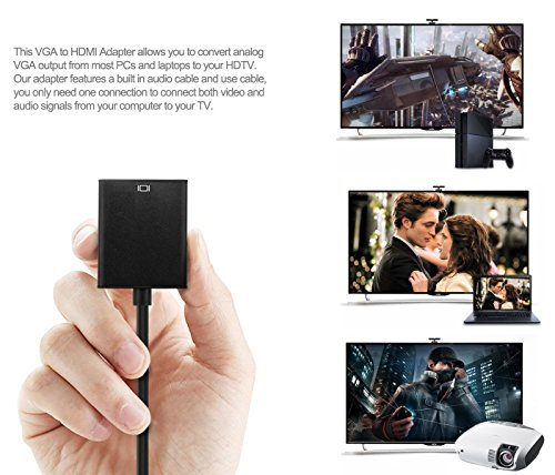 Golvery Active Male to HDMI Adapter, Gold-Plated High-Speed Converter Power Cable
