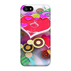 For Iphone 5/5s Tpu Phone Case Cover(abstract Hearts)