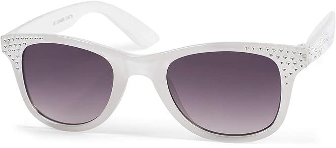 6465a6cc2e styleBREAKER gafas de sol «nerd» de niña con piedras de estrás, montura de