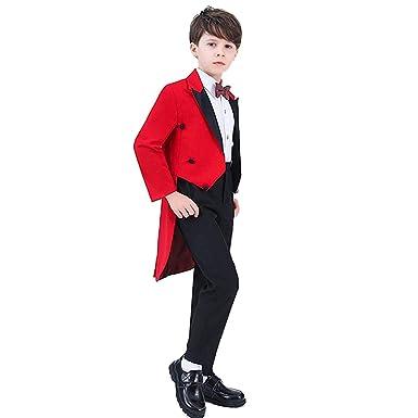 8bd5c2dbb1 Cnstone フォーマルスーツ 子供スーツ 男の子 子供タキシード 黒 ブルー 赤 レッド 燕尾服 キッズタキシード 結婚