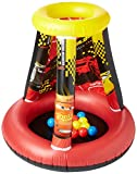 Disney Cars 3 Motor Speed Ball Pit, 1 Inflatable & 15 Sof-Flex Balls, Red/Yellow, 28'' W x 28'' D x 33'' H