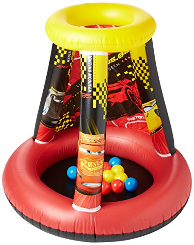 Cars Pit - Cars 3 Motor Speed Ball Pit, 1 Inflatable & 15 Sof-Flex Balls, Red/Yellow, 28