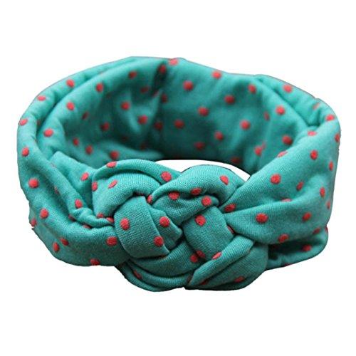 Bestpriceam® Cute Fashion Dot Cross Children Weave Twist Headband Baby Hair Accessories (Green)