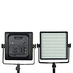 Neewer 600 LED Stepless Dimmer 36W 5600K/3200K 3520LM Professtional Studio Video Light Panel Photography Lighting Sony V Mount with Filters