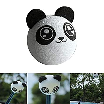Pullic Cartoon Car Antenna Ball Toppers Car Roof Decoration EVA Foam Balls (Big Eyes Bat)