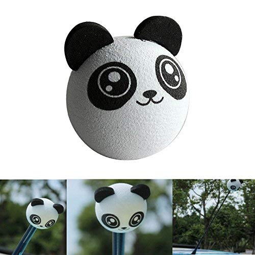 Yujiayi EVA Antenna Ball Panda Car Antenna Topper Animal Aerial Antenna Ball Decoration for Garden Truck SUV Car