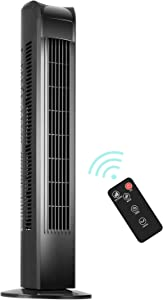 KEGIAN Oscillating Tower Fan with Remote, Electric Standing Floor Fan 3 Wind Speeds 3 Modes, Quiet Cooling Portable for Bedroom,Office,Home,30