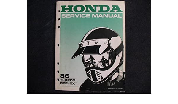 Prime Honda 1986 Tlr200 Tlr 200 Reflex New Original Factory Service Manual Wiring Database Gramgelartorg