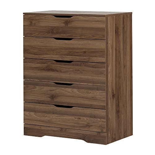 South Shore 11282 Holland 5-Drawer Chest, Natural Walnut