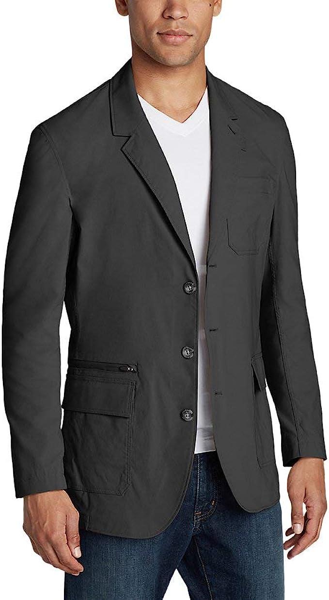 zippered pocket men's blazer