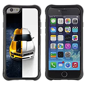 SHIMIN CAO@ Camaro Chevy Car Black White Z28 Rugged Hybrid Armor Slim Protection Case Cover Shell For iphone 6 6S CASE Cover ,iphone 6 4.7 case,iphone 6 cover ,Cases for iphone 6S 4.7