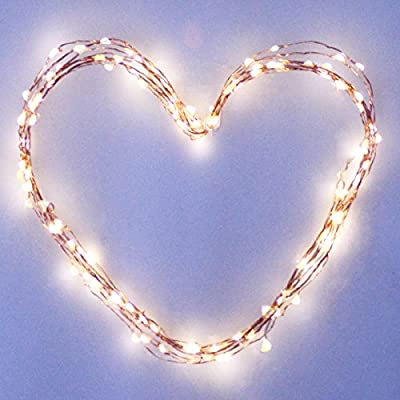 M&T TECH 120 LED Starry Solar String Lights Waterproof Warm White LED's on a Flexible Copper Wire for Christmas, Outdoor, Patio, Garden, Party Decoration