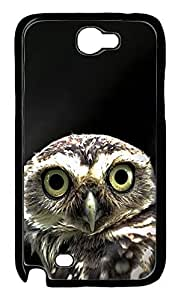 Owl in the Dark Protective Hard Plastic Back Fits Cover Case for Samsung Galaxy Note 2 N7100 -1122040