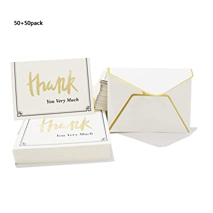 Amazon Com Thank You Cards 50pcs Thank You Card Envelopes Included