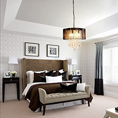 Crystal Ball Pendant Chandelier with Grey Shade of CRYSTOP