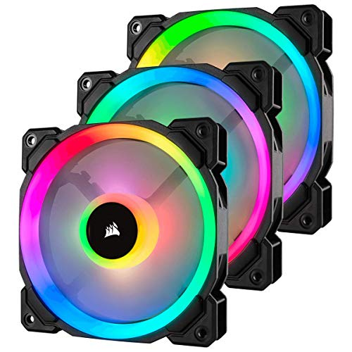 Corsair LL Series LL120 RGB 120mm Dual Light Loop RGB LED PWM Fan 3 Fan Pack with Lighting Node ()
