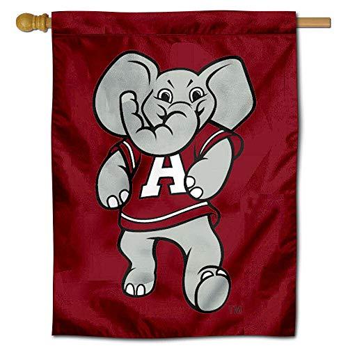 College Flags and Banners Co. Alabama Big AL Mascot Logo Banner Flag (Alabama Mascot)