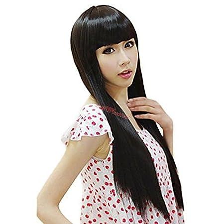 Amazon.com: Inuyasha Kikyo Qi Liu peluca realista largo pelo ...