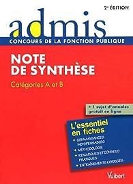 Note de synthèse : Catégories A et B par Olivier Bellégo