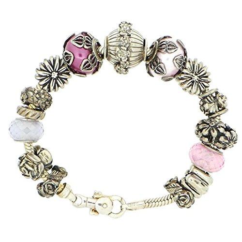 Bracelet Tedora Femme cpy2_ rose _ 2Argent Pierres Dures