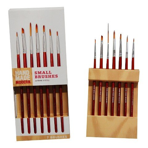 Hand Made Modern - 7ct Small Paint Brush Set -