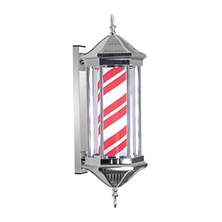 YQLIGHT LED Resalte barbero Polo Roma Retro Cabello Giro Lámpara ...