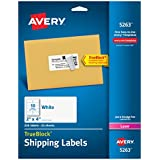 Avery® White Shipping Labels for Laser Printers with  TrueBlockTM Technology, 2 inches x 4 inches, Pack of 250 (5263)