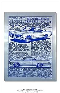 Metal Blueprint Series No 16 1966 Pontiac GTO Art Print