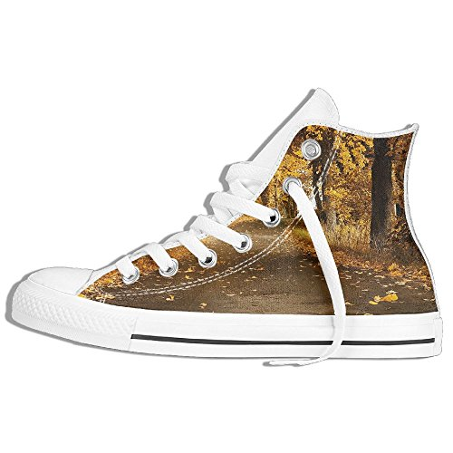Classic High Top Sneakers Canvas Shoes Anti-Skid Autumn Nature Casual Walking For Men Women White GxeeUB